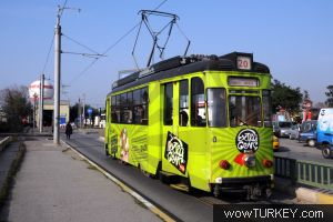 Трамваи в Стамбуле.