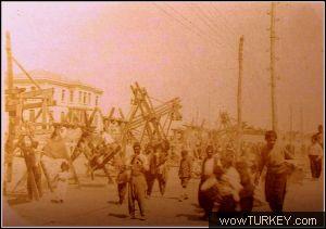 Bayram yeri kolordu binası önü 1919 işgal dönemi