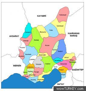 Image result for adana haritası