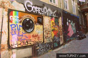 Istanbul Sokak Ve Duvar Resimleri Sanatı Grafiti